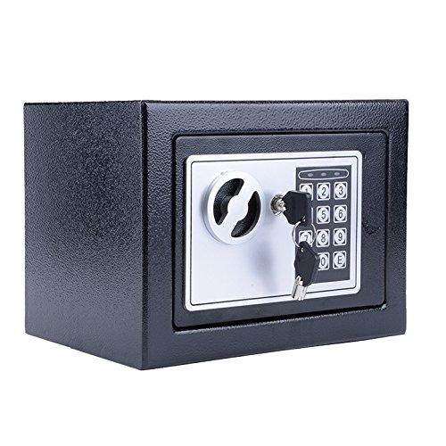 Homdox Elektronischer Tresor, weiß schwarz