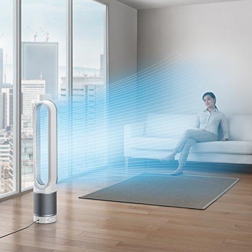 パワフルな掃除機でおなじみのダイソンの空気清浄機能付きファン。PM 0.1レベルの微細な粒子を自動で99.95%除去してくれるので、花粉の季節も大活躍。室内の空気の状態をモニターし、風量を自動で調整する賢いオートモード機能付き。羽がないので、小さなお子さんのいる家庭も安心です。