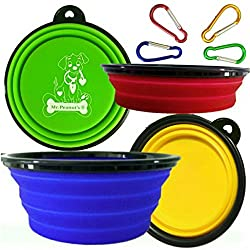 Mr. Peanut's Collapsible Dog Bowls, Set of 4 Colors