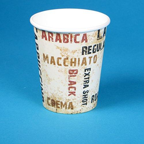 1000 Espresso to go Becher, Coffee to go Becher, Espressocups, 4oz / 100ml / 0,1l, edles Neutralmotiv