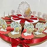 bomboniere cresima Ciondolo Albero della Vita. Torta fette + Centrale + 14 Pendenti + Confetti