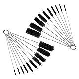 DIY Crafts Nylon Tube Brush Set, Nylon Cleaning Brushes 20 Pieces for Drinking Straws Glasses Keyboards Jewelry Cleaning, Antistatic Brushes, Beaker Cleaning Brushes (Design No # 1, 2 Set of 10 Pcs)