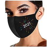 1PC Unisex Adultos Protector Bufanda para 2021 Feliz Año Universal Bonita 3 Capas Suave elástico Earloop Bufanda para Mujeres Hombres -21212