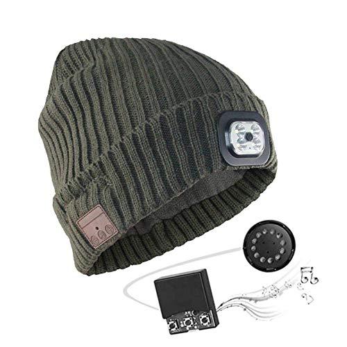 Myfei Bluetooth hoofdtelefoon, bluetooth-hoofdtelefoon, wintermuts met draadloze 5.0, voor corsa met skiën, Thanksgiving, geschenken voor mannen en vrouwen