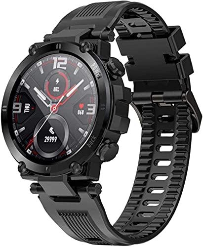 YLB Smart Watch IP68 Rastreador de actividad impermeable con ritmo cardíaco Monitor de presión arterial Seguimiento de sueño Reloj de aptitud con Android & ampamp IOS Calorie Step Countor Pantalla tác