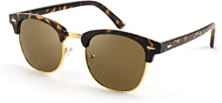 FEISEDY Sunglfor Men Women Matte Finish Semi-Rimless Frame Driving Sun glMirror 100% UV Blocking B2242