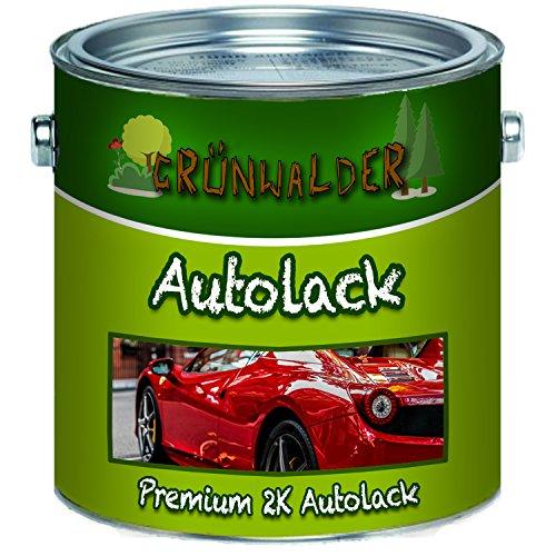 Grünwalder Premium 2 Komponenten Autolack glänzender Landmaschinenlack, hochdeckender und schlagfester Lack mit passendem Härter Set - nur Zwei dünne Anstriche! (RAL 7030 Steingrau, 1 L)