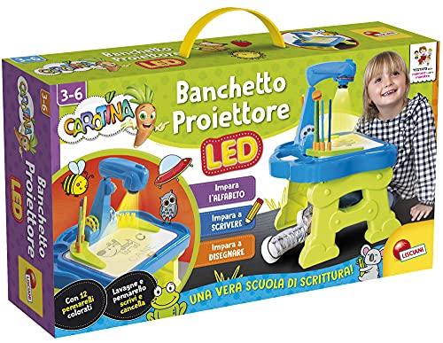 Lisciani Giochi- Carotina Banchetto Proiettore LED Scuola di Scrittura, Multicolore, 88614