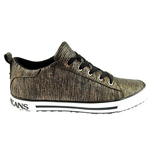 Armani Jeans 925907 Damen Women Sneaker Schuhe Shoes Gold Rust Brown (UK 4,5 - EU 37)