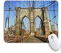 NIESIKKLAマウスパッド 美しいブルックリン橋 ゲーミング オフィス最適 高級感 おしゃれ 防水 耐久性が良い 滑り止めゴム底 ゲーミングなど適用 用ノートブックコンピュータマウスマット
