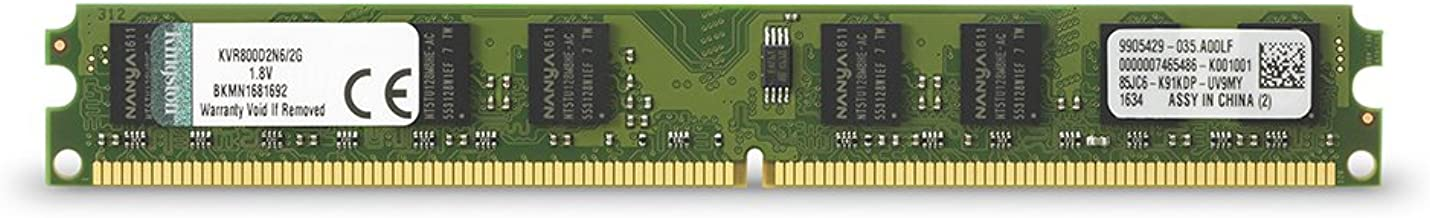 Kingston ValueRAM 2GB 800MHz DDR2 Non-ECC CL6 DIMM Desktop Memory