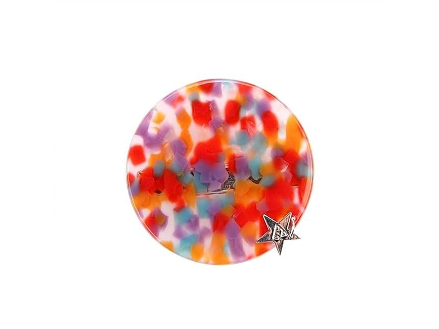 腐敗堀危機Osize 美しいスタイル 透明ウェーブポイントヘアクリップラウンドシェイプフォルダダックビルクリップヘアアクセサリー(カラーウェーブポイント)