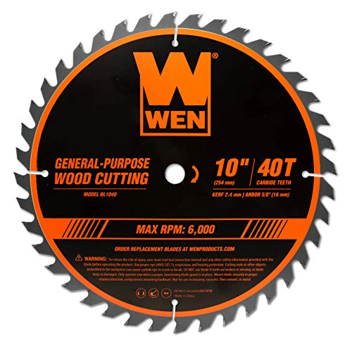 WEN BL1040 10-Inch 40-Tooth Carbide-Tipped Professional Woodworking Saw...