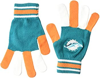 Miami Dolphins Multi Color Team Knit Glove