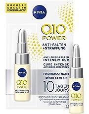NIVEA Q10 Power Tratamiento Antiarrugas + Firmeza 10 días en (6,5 ml), ampollas antiedad con coenzima Q10 y creatina para el cuidado facial
