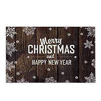 木の板のメリークリスマスとハッピーニューイヤー家の装飾滑り止めバスラグセットバスルーム浴槽の寝室用の吸収性フロアマット,40x60 cm
