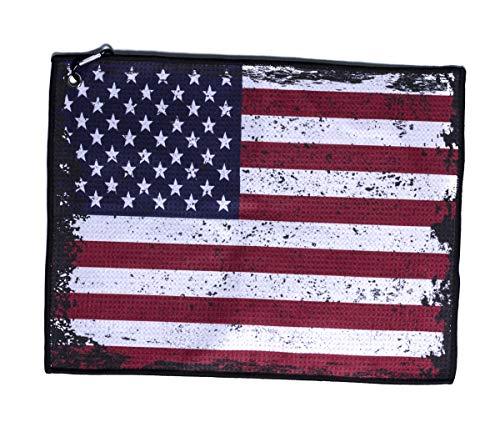 Stone Products - Toalla de Golf con Bandera Estadounidense, White Flag 1