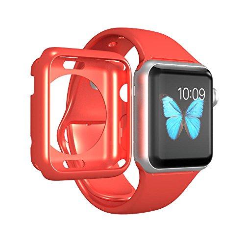 Luvvitt chiarezza] Full Body trasparente morbido TPU custodia in gomma con schermo temperato per Apple Watch/sport/Edition 38mm