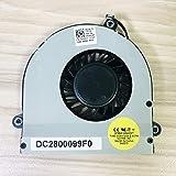 Laptop CPU Cooling Fan for Dell Alienware M17X R3 R4 M17XR Cooler Radiator Fan DC2800099F0 FA50 CN- 0GVHX3 GVHX3