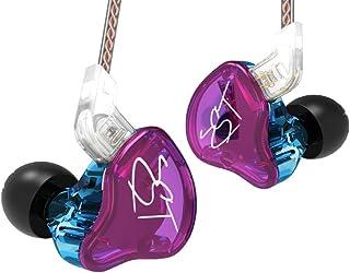 KZ ZST in Ear Earphones Hybrid Banlance Armature with Dynamic 1BA+1DD HiFi Headset (Without Mic, Purple)