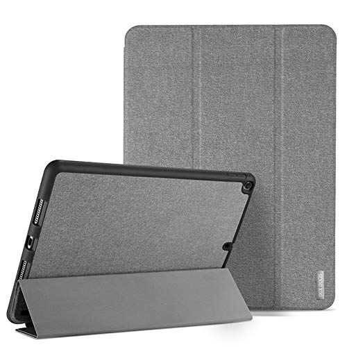 RubyShopUU Flip Case for Apple iPad 9.7 2018 2017 Soft Bumper Protective Auto Sleep Wake Up Kickstand Cover Tablet Bag with Pencil Holder