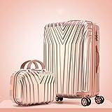 KGDUYH Maleta 20'22' 24'26' 29'Pulgadas Suitcasas PC Maleta Enrollable en Ruedas Travel Equipaje Set Universal Wheel Trip Trolley Case para Viajes de Negocios