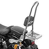 Sissy Bar Ohio XL para Harley Sportster 883 Iron 09-20 con Parrilla INOX
