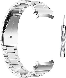 WSTERAO Band kompatibla för Samsung Galaxy Watch4 40/44 mm galaxklocka 4 klassiska 46 mm/42 mm rostfritt stål armband ersä...