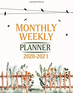 MONTHLY WEEKLY PLANNER 2020-2021: Mid Year (July 2020 to June 2021) Daily, Weekly, and Monthly Planners With Year in Pixels, Contacts, Months Calendar, Cleaning Tasks, Habit Tracker