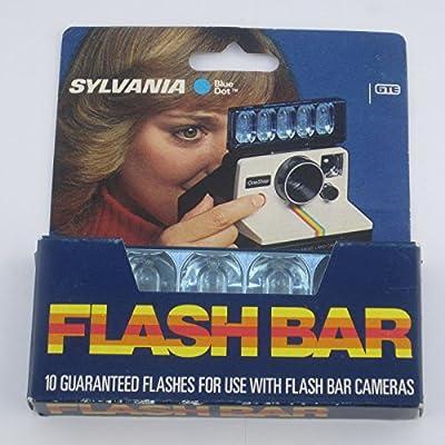 Sylvania Blue Dot Flashbar for Polaroid SX70 Land Camera from GTE