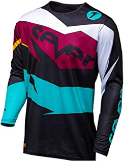 Seven Motocross Jersey Downhill Long Sleeve Jersey Mountain Bike Shirt Motorcycle Clothing Makfacp (Color : Ivory, Size : The)