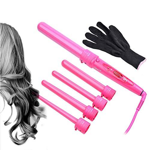 FAY Beauty 5-in-1 keramische krultang 09-32 mm krulstaaf haarwaver krulstaaf haar elektrische krullen professionele styling gereedschappen, roze