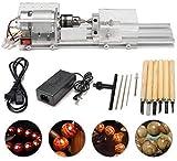 Vogvigo Mini Drehmaschine Perlen Poliermaschine, CNC-Bearbeitung für Tisch Holzbearbeitung Holz, DIY Werkzeugdrehmaschine
