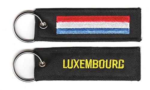 FLAGGENMAE Schlüsselanhänger Luxemburg Anhänger Fahne Flagge
