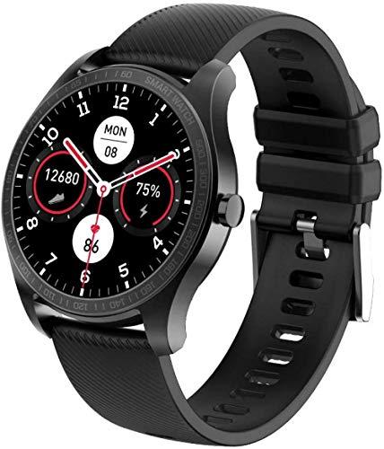 Reloj inteligente con monitor de ritmo cardíaco 1.2 pantalla táctil de alta definición IP68 impermeable reloj deportivo con brújula compatible con Android iOS para hombres y mujeres