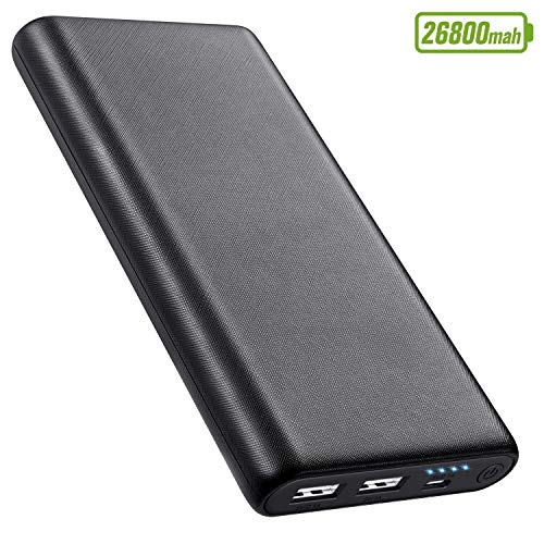 Portable Charger Power Bank 26800mAh Ultra-High Capacity External Battery Pack Dual Output Port with 4 LED Indicator Portable Power Banks for iPhone, Samsung Galaxy, Andriod Phone, Tablet and More