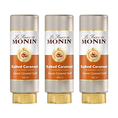 Monin Sauce Salted Caramel, 500 ml, 3er Pack