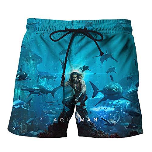 Aquaman Pantalones cortos de entrenamiento jogging Pantalones cortos de ciclista del basculador pantalones cortos de cintura elástico ultraligero Formación playa y la piscina pantalones cortos