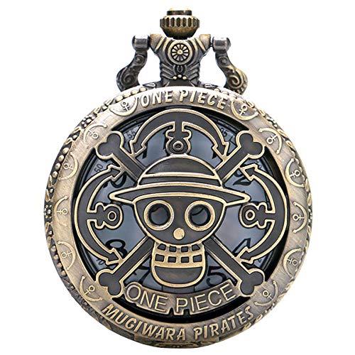 Herren Taschenuhr, Antik Anime One Piece Thema Hohl Quarz Taschenuhr, Geschenk für Herren
