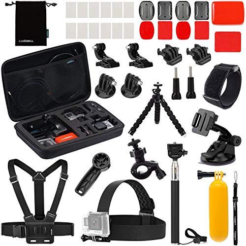 Luxebell Accessories Kit for AKASO EK5000 EK7000 4K WiFi DJI OSMO Action Camera 8 7 6 5 Black Sliver