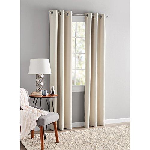 Mainstays Blackout Energy Efficient Grommet Curtain Panel 40x84 Beige