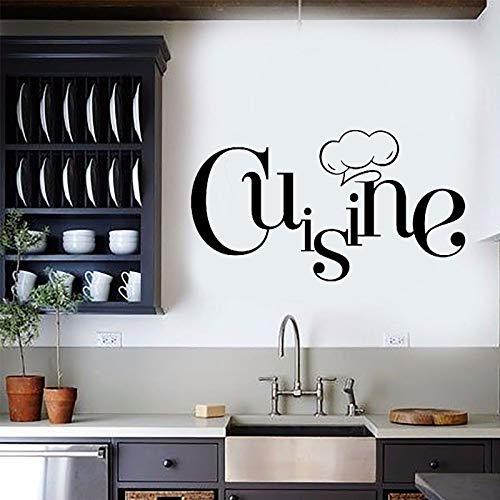 wZUN Aufkleber Gourmet Torque Küche Vinyl Aufkleber Mode Einfaches Wandplakat Wasserdicht 68x38cm
