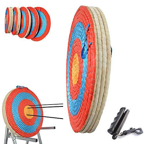 AMEYXGS Objetivo de Arco Tiro con Arco Tradicional Dianas Objetivo de Paja sólida con Tirador de Flechas Objetivo de Flechas para Deportes al Aire Libre Tiro con Arco Dardos (1 capa-2cm)