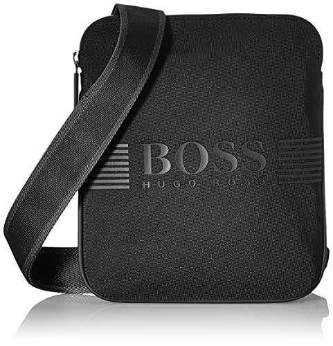 BOSS Pixel_s Zip Env Crossbody Bag - Bolsa para hombre, talla única, color Negro, talla Einheitsgröße