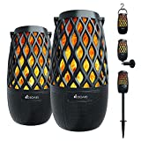 DBSOARS Torch Light Bluetooth Speaker, Outdoor/Indoor LED Flame Atmosphere Speaker, Sync Up to 100 Wireless Portable Speakers with Wall Mount&Stake&Hook, Party/Yard/Patio/Halloween Decor/Gifts, 2 Pack