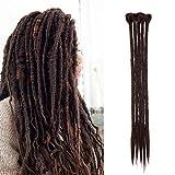 SEGO Dreadlock Extension Treccine [Castano Cioccolato] 5 Pezzi Rasta Dread da Donna Capelli Lunghi Sintetici Braiding Hair Fibre Uncinetto 50cm