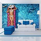 Tapeten,Eigene 4D Wallpaper Querformat Bikini Schönheit