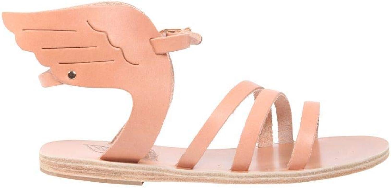 Ancient Ancient Ancient Greek Sandals Damen IKARIAVACHETTANATURAL Rosa Leder Sandalen 8e8c6d
