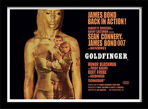 Pyramid International James Bond Goldfinger Filmplakat, gerahmt