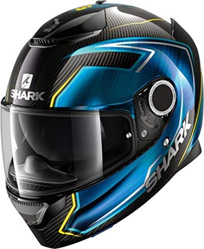 Shark Casco da moto SPARTAN CARBON 1.2 GUINTOLI DBY, nero/blu/giallo, XL